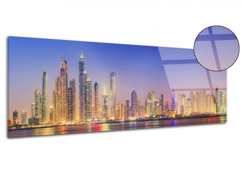 Tableau plexiglas photo panoramique Dubai