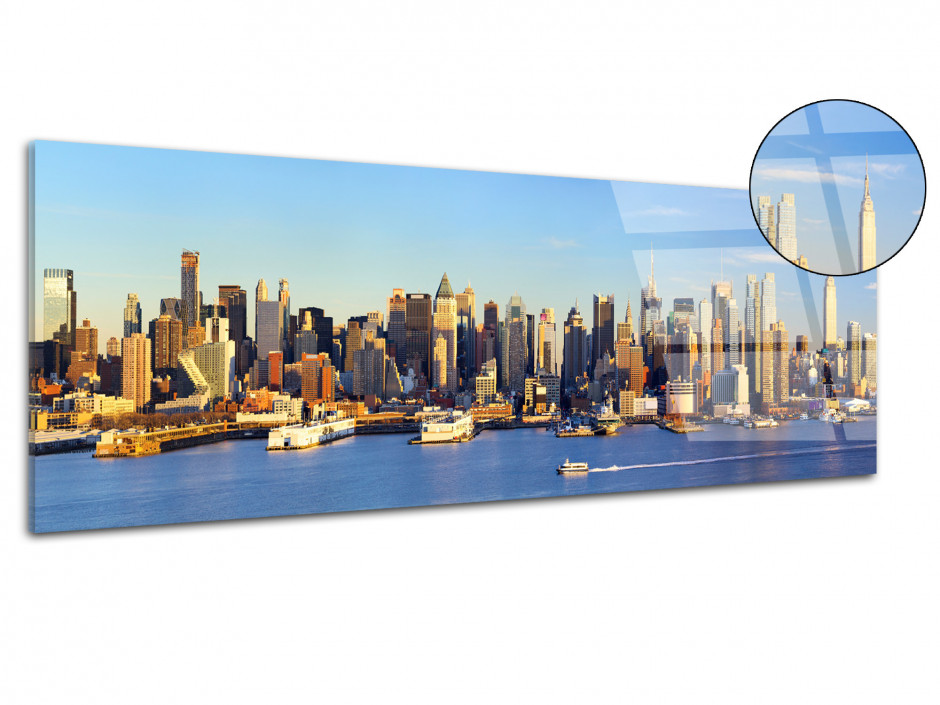 Tableau plexiglas panorama sur New York