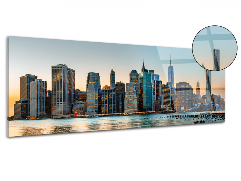 Tableau plexiglas panoramique New York City skyline