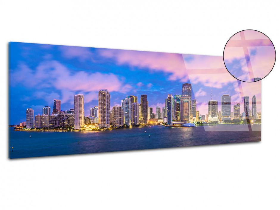 Tableau plexiglas photo panoramique Miami