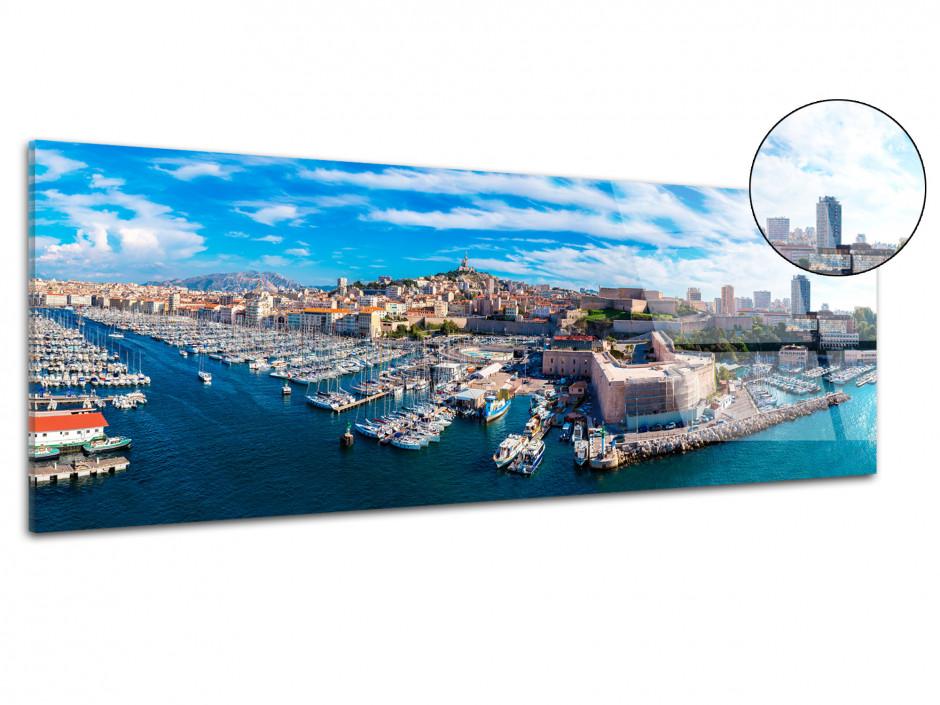 Tableau plexiglas panoramique ville de Marseille