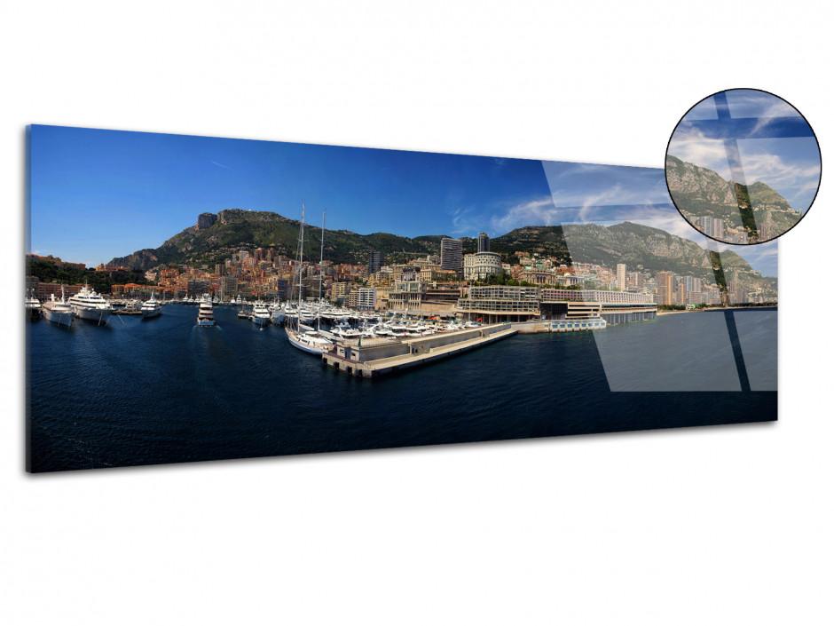 Tableau plexiglas photo panoramique Monaco