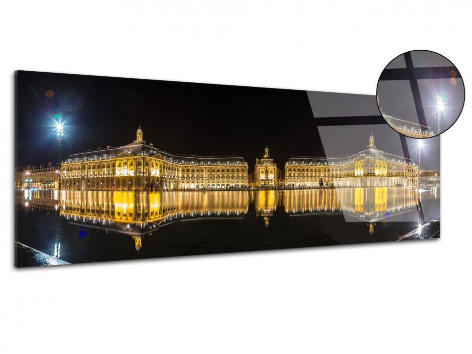 Tableau plexiglas photo panoramique ville de Bordeaux