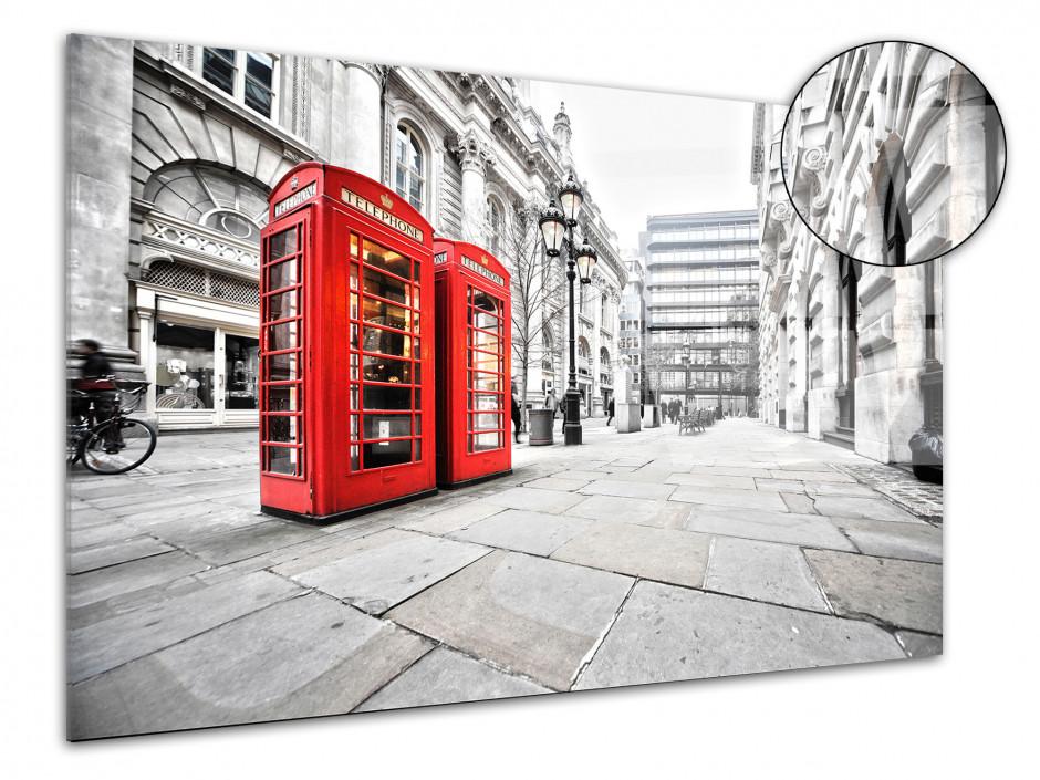 Tableau plexiglas deco Les Cabines de Londres
