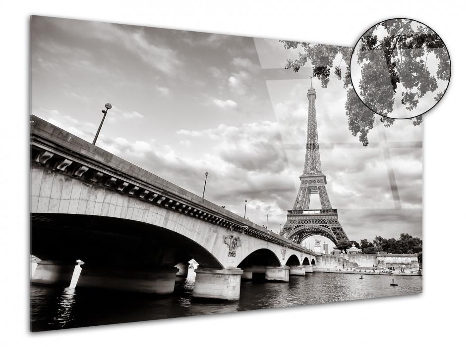 Tableau plexiglas photo noir et blanc la tour Eiffel