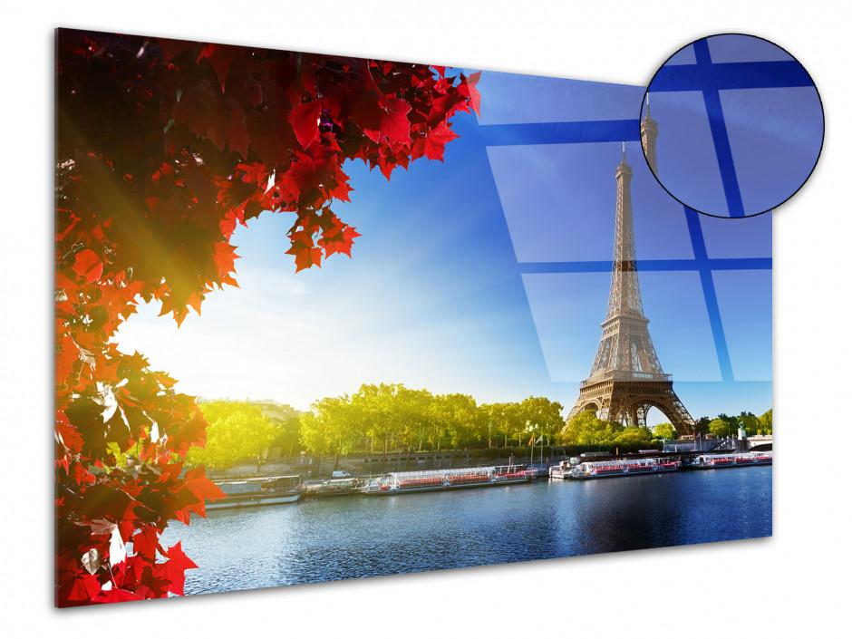 Tableau plexiglas photo la tour Eiffel et la Seine