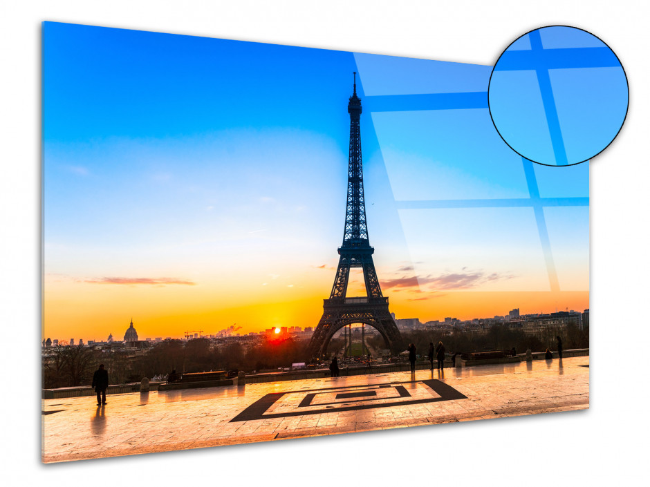 Tableau plexiglas deco sunset sur la tour Eiffel