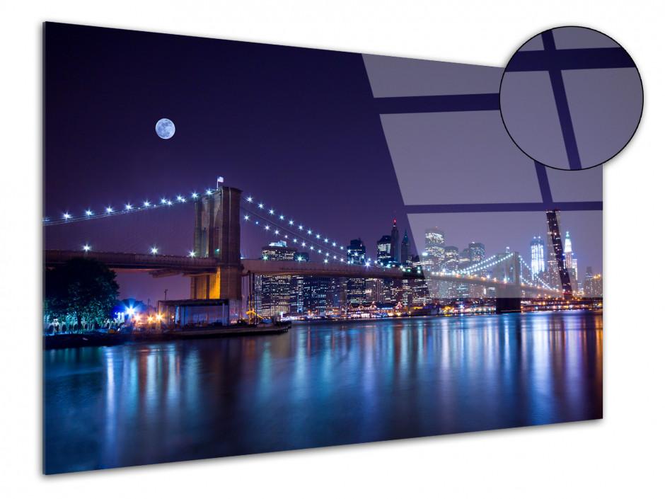 Tableau plexiglas photo déco pont de Brooklyn de nuit