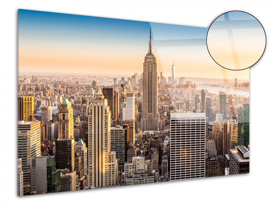 Tableau plexiglas photo sunrise to New York