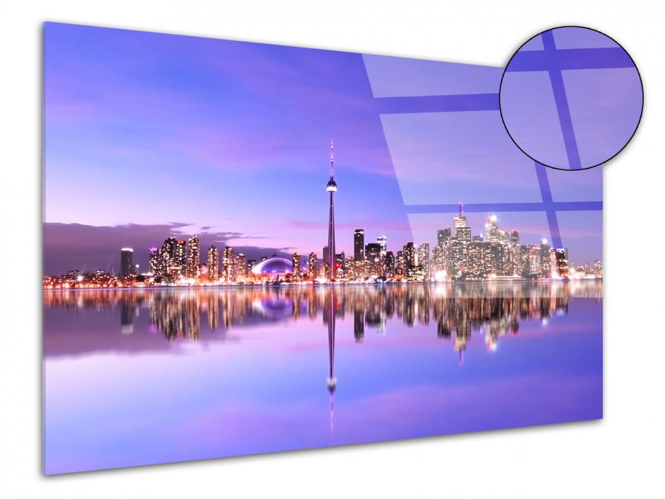 Tableau plexiglas photo déco sunset et reflet à Toronto