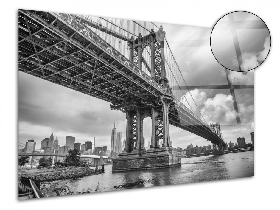 Tableau plexiglas photo noir et blanc Manhattan Bridge