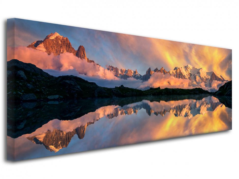 Tableau toile reflet du Mont Blanc