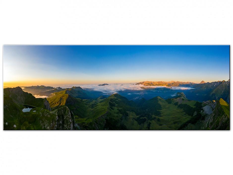 Tableau Aluminium panoramique sur le montagnon