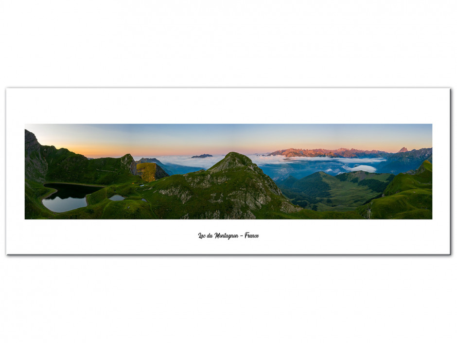 Tableau Aluminium panoramique sur le massif du montagnon