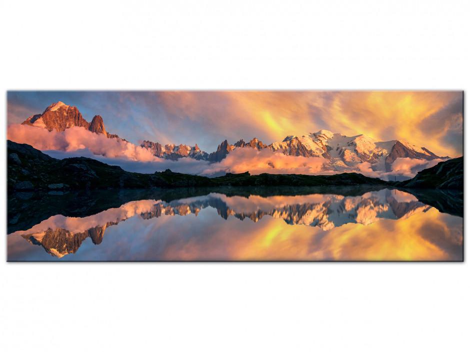 Tableau Auminium reflet du Mont Blanc