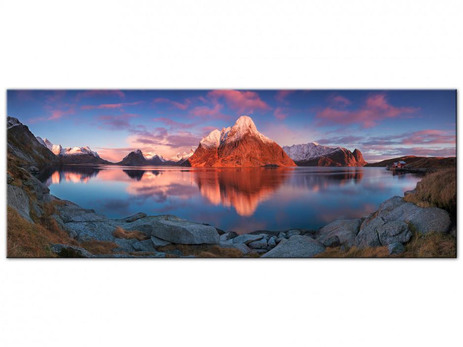 Tableau Auminium Reflet de montagne sur lac