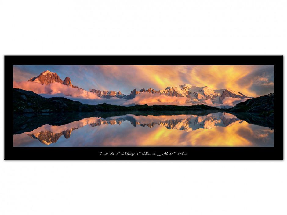 Tableau Auminium Lac des cheserys Chamonix Mont-Blanc