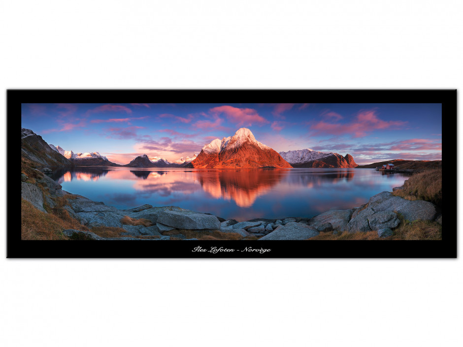 Tableau Auminium Ile Lofoten Norvège