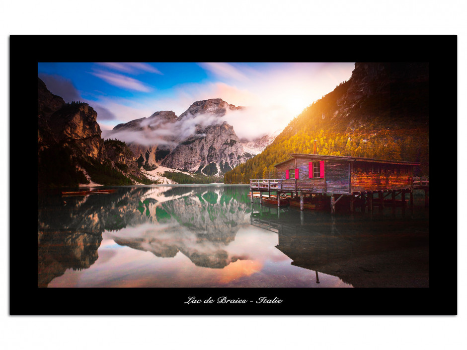 Tableau Auminium Lac de Braies Italie