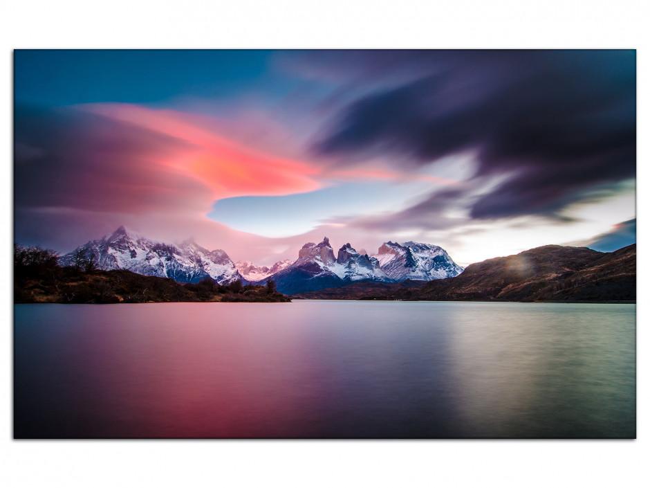 Tableau Auminium levé de soleil sur le Torres del Paine