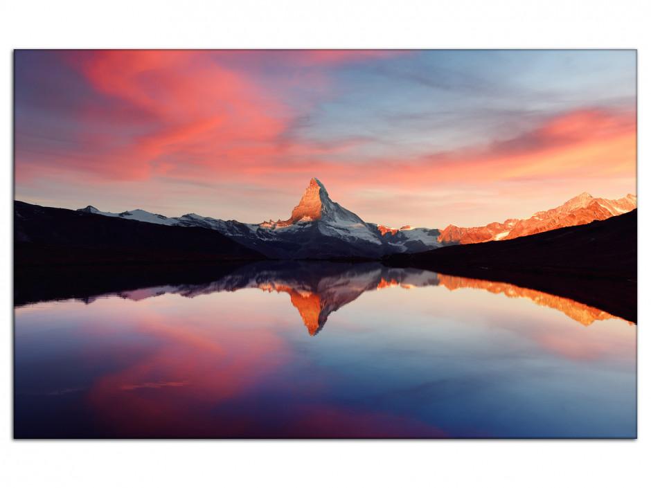 Tableau Auminium Paysage Le sommet du Matterhorn