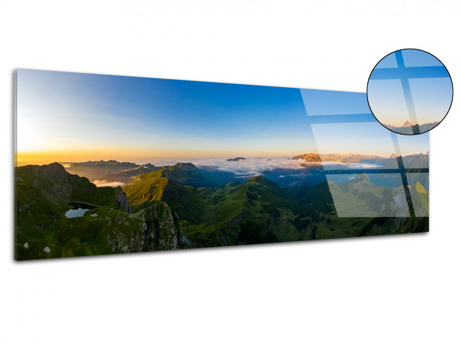 Tableau plexiglas panoramique sur le montagnon