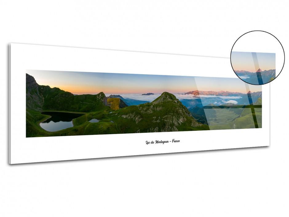 Tableau plexiglas panoramique sur le massif du montagnon