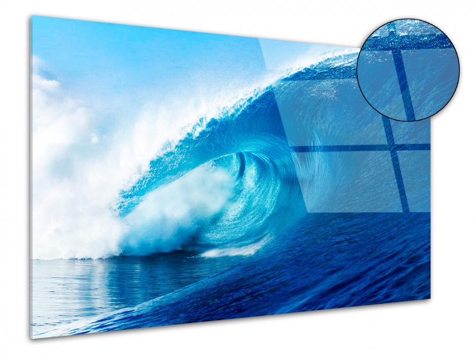 Tableau Plexiglas vague polynesie