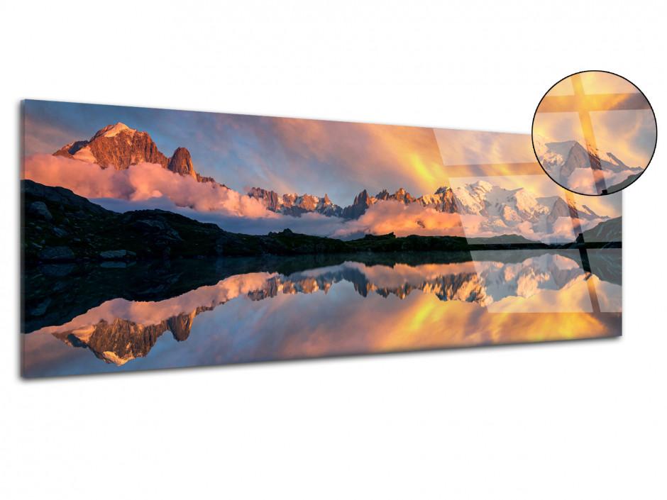 Tableau plexiglas reflet du Mont Blanc