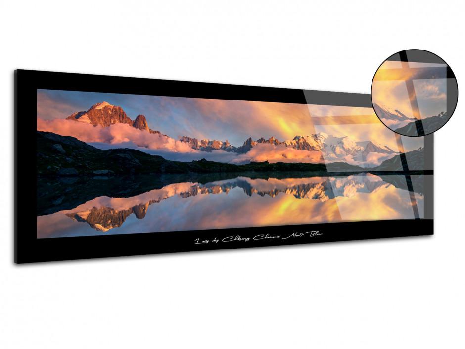 Tableau plexiglas Lac des cheserys Chamonix Mont-Blanc