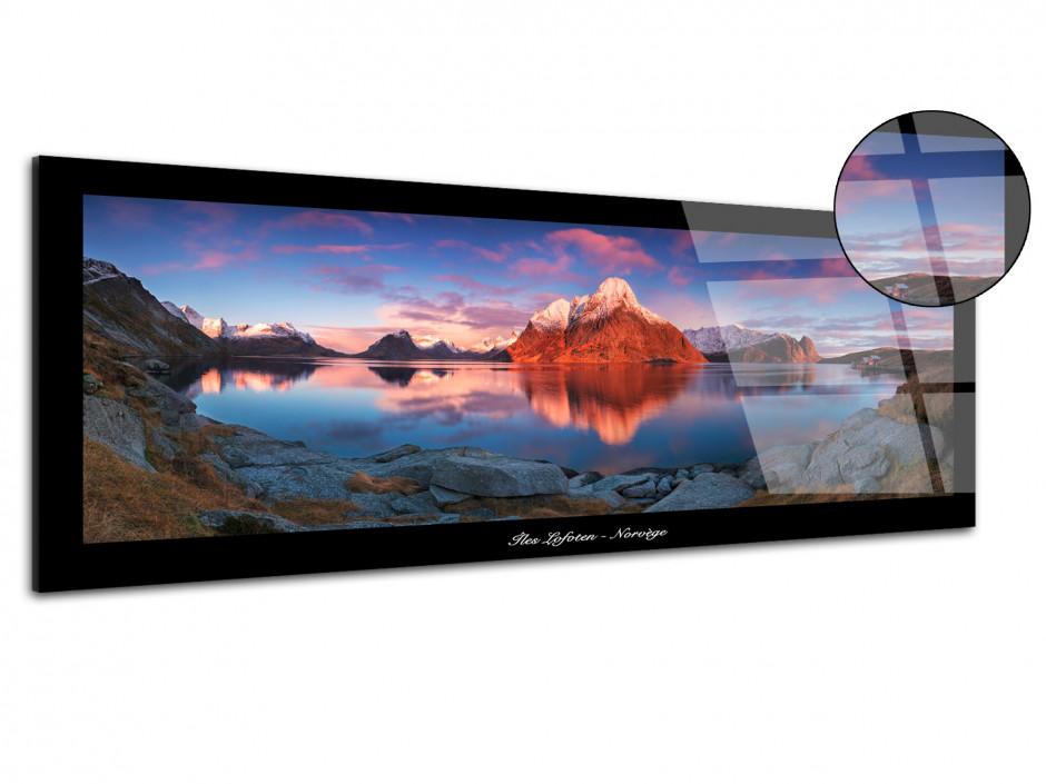 Tableau plexiglas Ile Lofoten Norvège