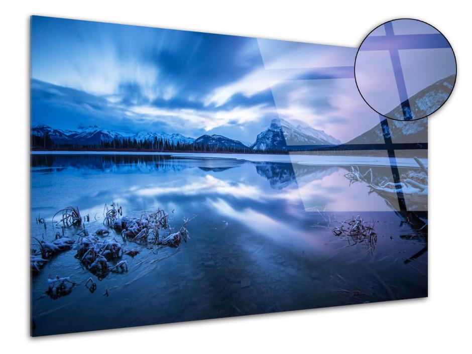 Tableau plexiglas Sunset sur les montagnes Canadienne