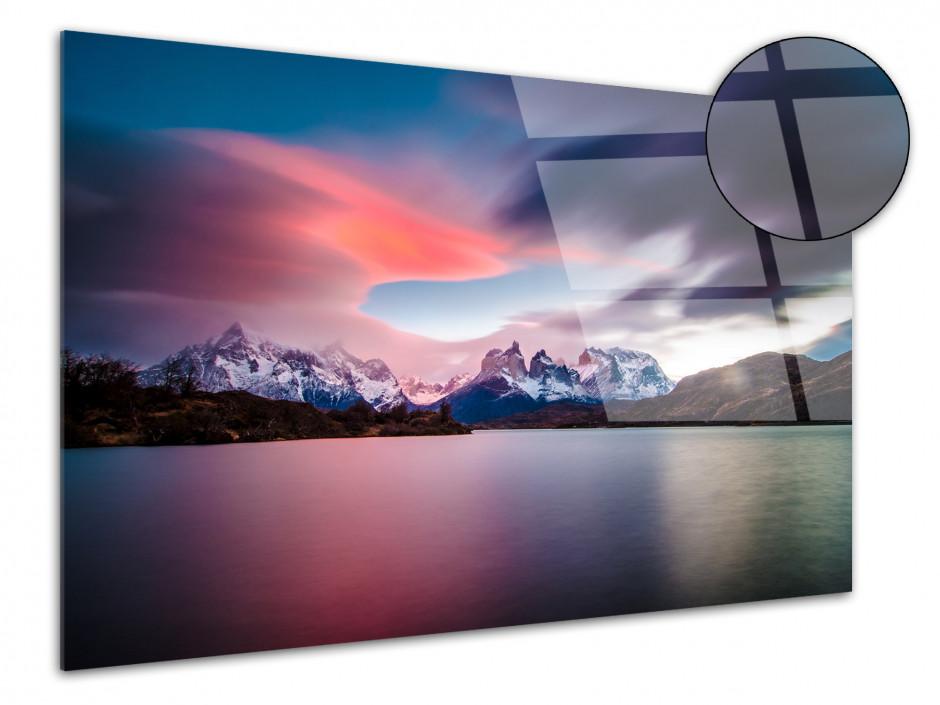 Tableau plexiglas levé de soleil sur le Torres del Paine