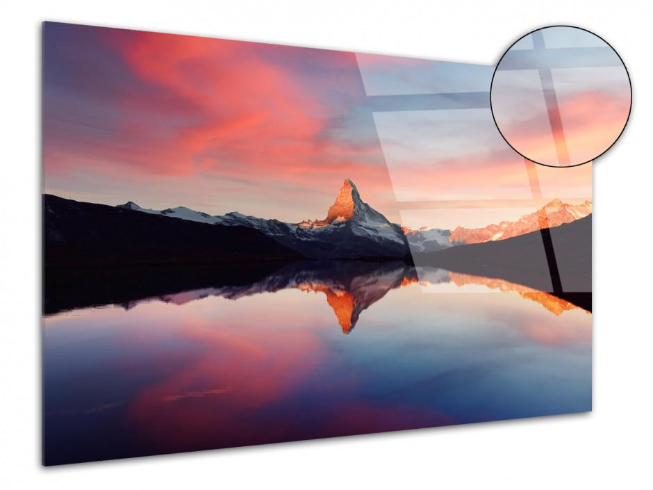 Tableau plexiglas Paysage Le sommet du Matterhorn