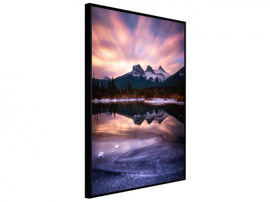 Affiche Poster Lac de montagne au levé de soleil