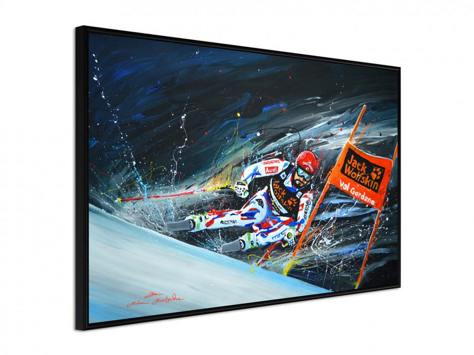 Affiche sous cadre Skieur Pro