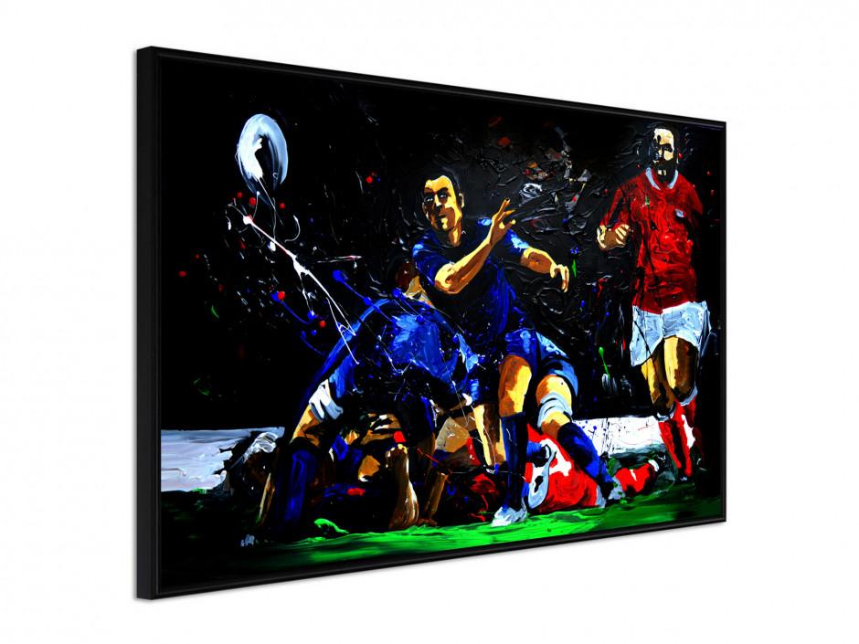 Affiche sous cadre Rugby Ejecteur