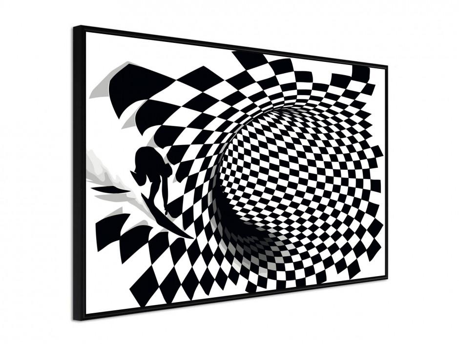 Affiche sous cadre Surf the Cube
