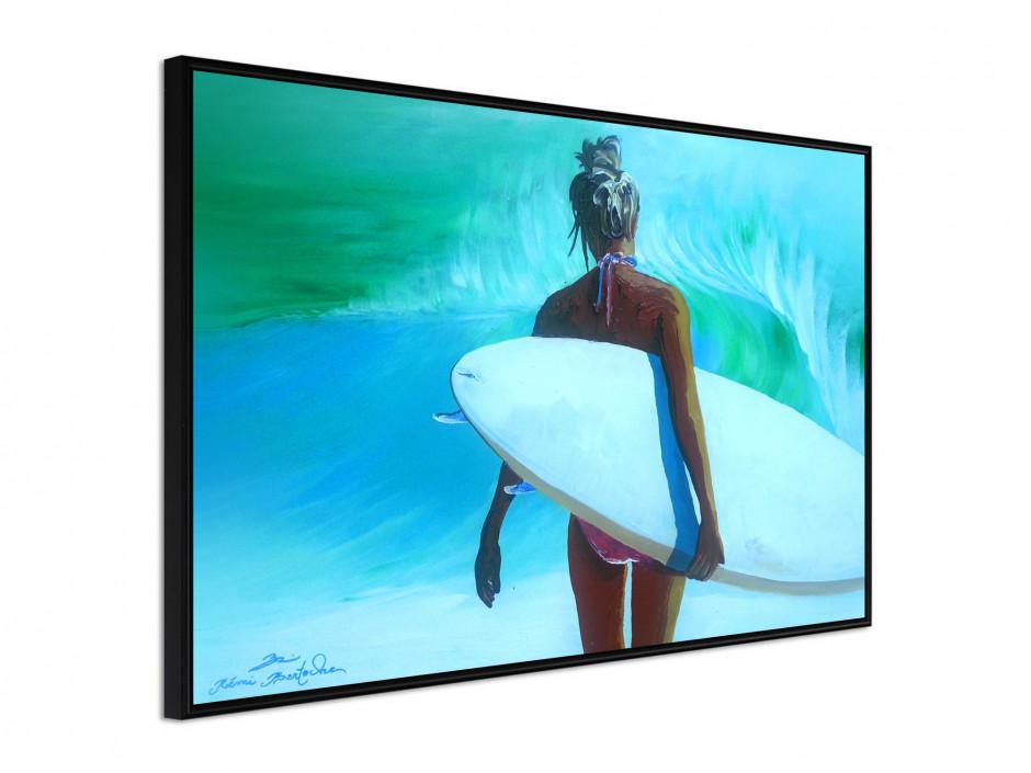 Affiche sous cadre Surfer Girl