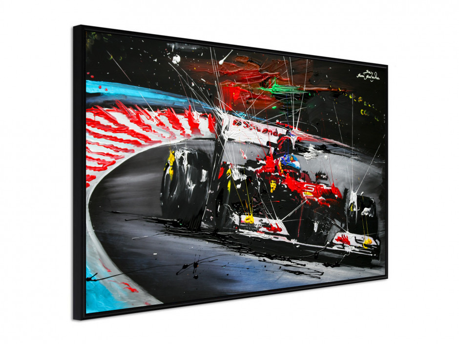 Affiche sous cadre Course F1