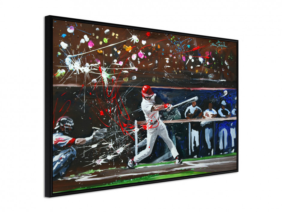 Affiche sous cadre Baseball