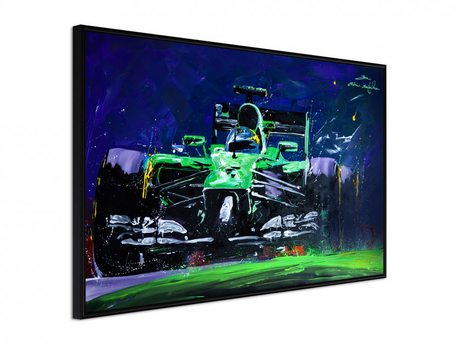 Affiche sous cadre F1 Green