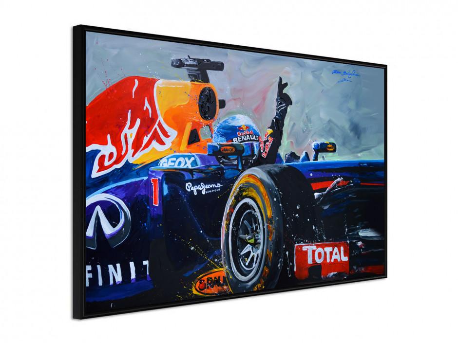 Affiche sous cadre F1 Victoire