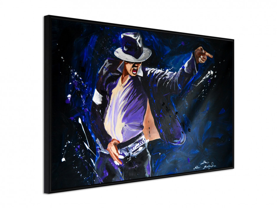 Affiche sous cadre King of Pop