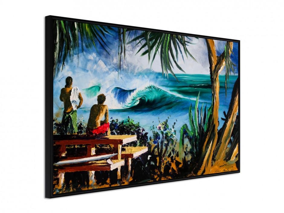 Affiche sous cadre Pipe surf
