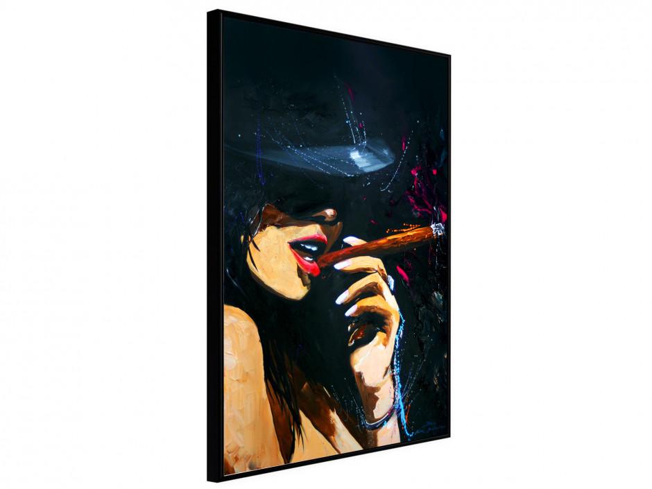 Affiche sous cadre Cigar Girl