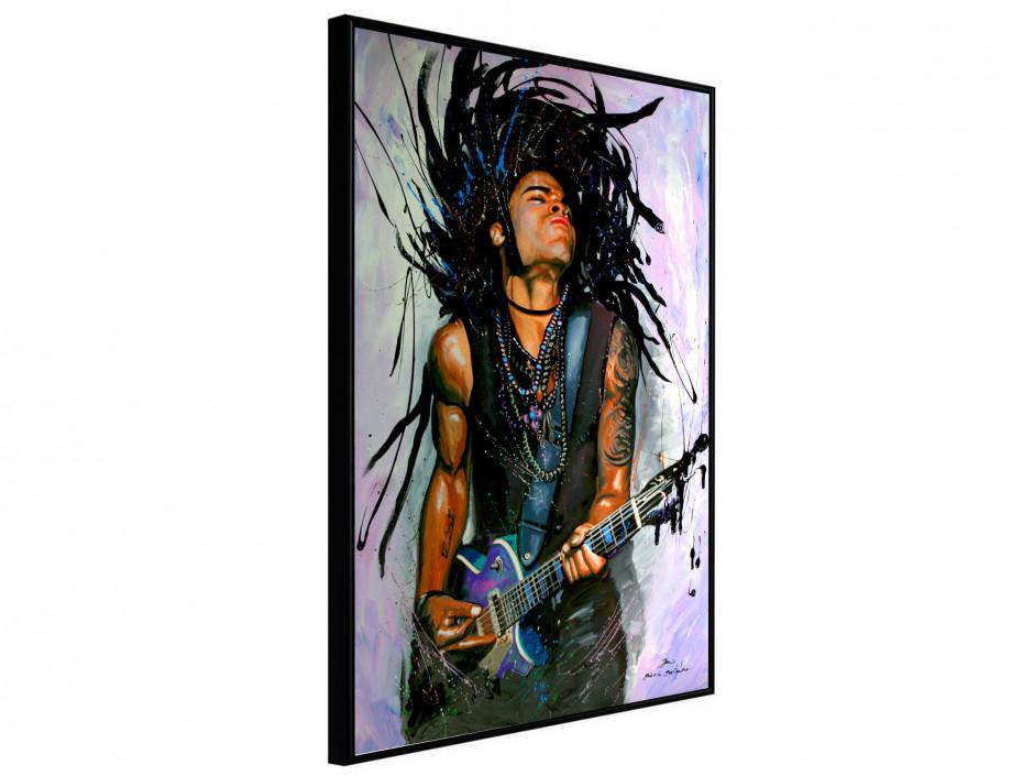 Affiche sous cadre Lenny Kravitz