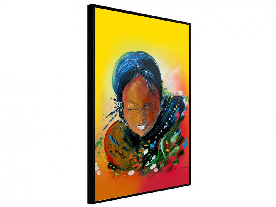 Affiche sous cadre Tahiti Girl
