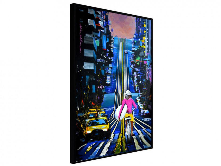 Affiche sous cadre Urban Rider