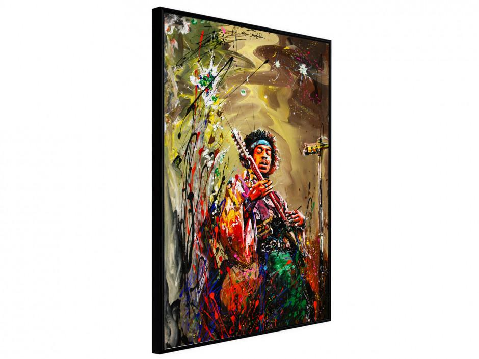 Affiche sous cadre Jimi Hendrix